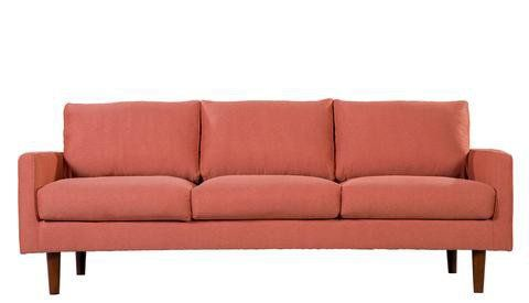Atlantic Sofa (salmon pink / coral color) Find modern sofas ideas that are comfortable and affordable! Get modern sofas for luxury living rooms or casual modern livingrooms. Discover more beautiful mid-century living room furniture and decor at midinmod.com.