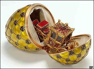 Carl Fabergé: El Dios de la Joyería Rusa y creador de los Huevos Fabergé -   Interior del Huevo de la Coronación