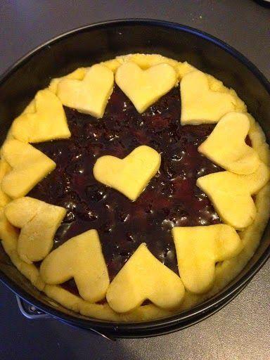 #crostata con #marmellata di ciliege #fattaincasa