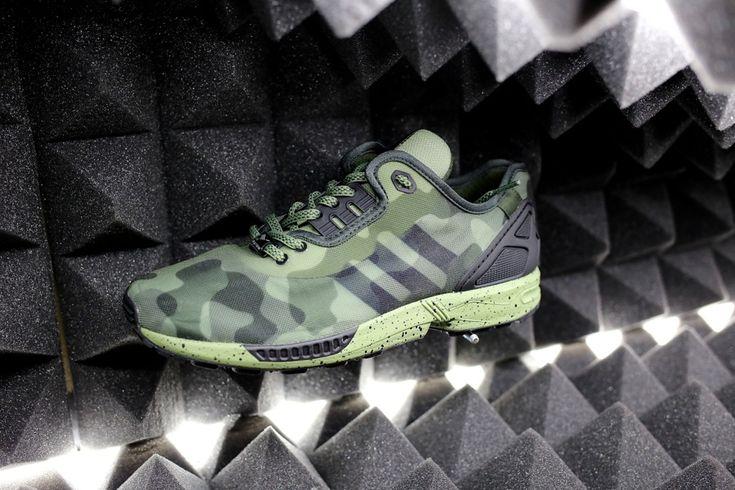 Adidas Zx Flux Camo Green
