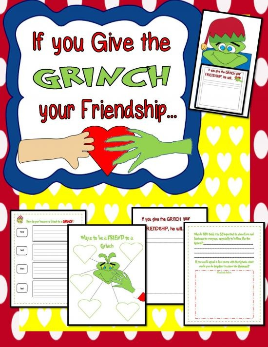 If you Give the Grinch your Friendship!{Booklet & Craftivity Fun} product from Engaging-Lessons on TeachersNotebook.com