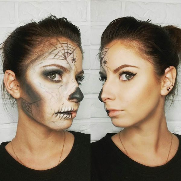 Pretty Halloween Makeup Ideas Minimal Costume Required