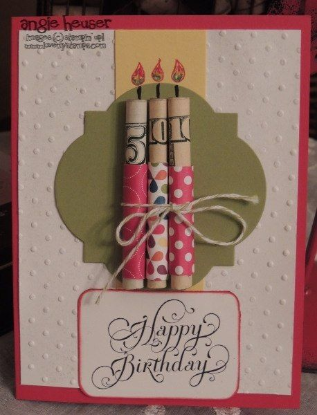 Who doesn't love a card with money? This one is MADE WITH $ - love it!