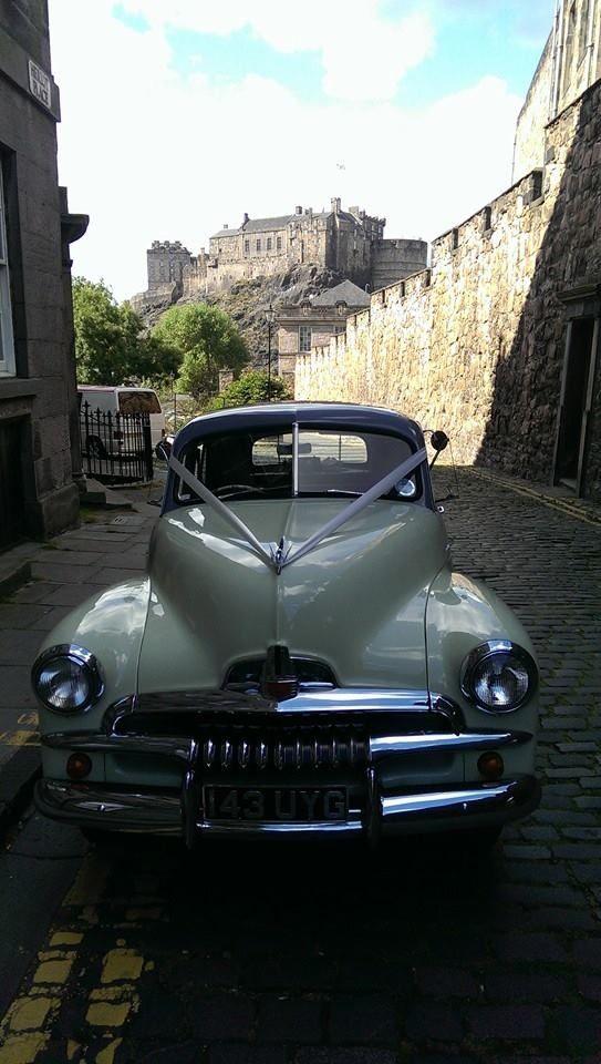 FJ Holden - Edinburgh wedding, nice backdrop of the castle