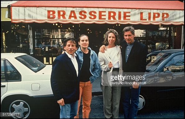Roman Polanski, his wife Emmanuelle Seigner and Harrison Ford and his wife in Paris.