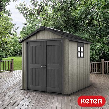 "Keter Oakland 7ft 6"" x 7ft (2.3 x 2.1m) Shed 
