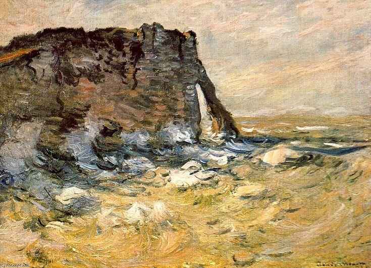 Acheter Tableau 'port d`aval' de Claude Monet - Achat d'une reproduction sur toile peinte à la main , Reproduction peinture, copie de tableau, reproduction d'oeuvres d'art sur toile