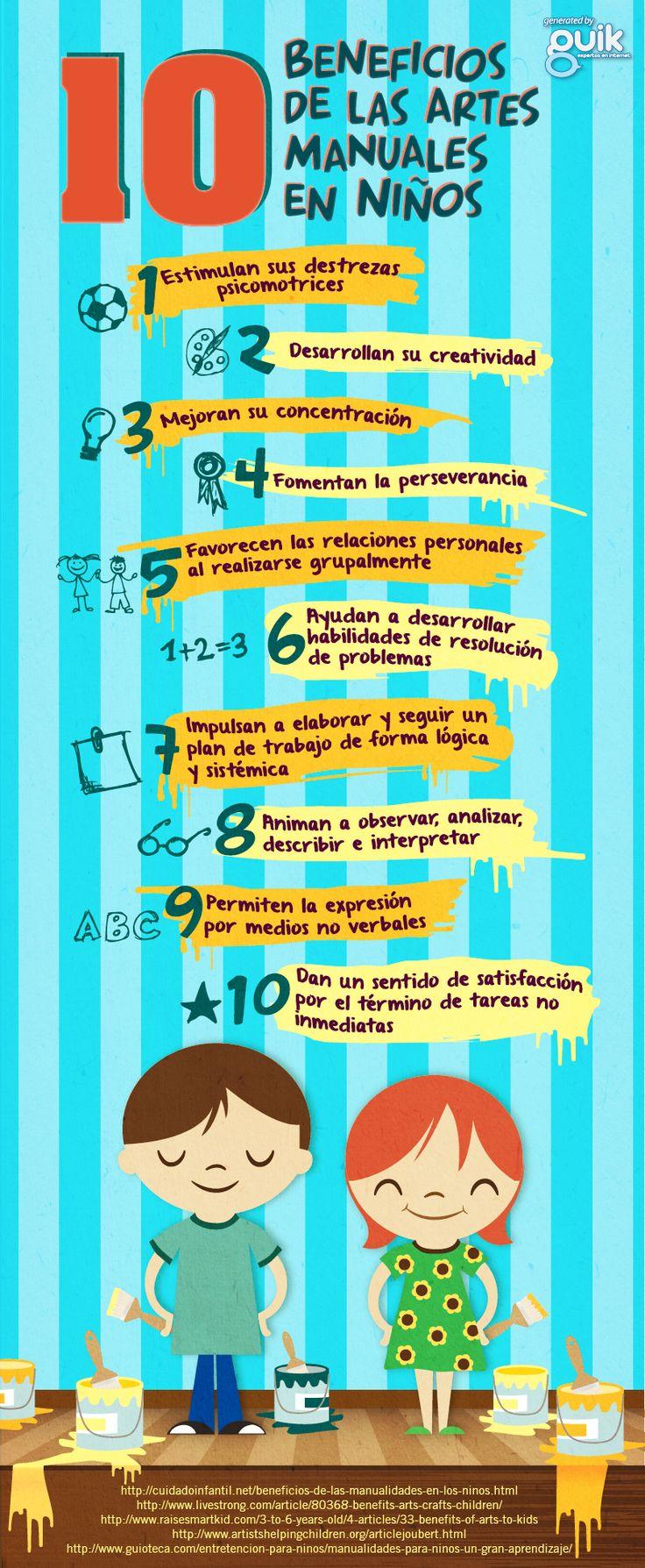 Beneficios de las manualidades en los #niños