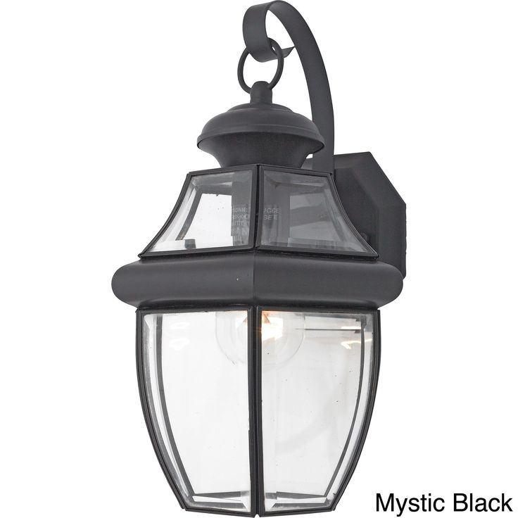 Quoizel newbury 1 light 150 watt outdoor fixture fluorescent black brass