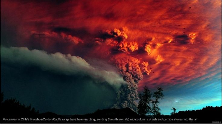 Chile: Puyehue Volcano Eruption Followed by Large Cloud of Ash and Amazing Thunderstorms - Akademi Fantasia Travel