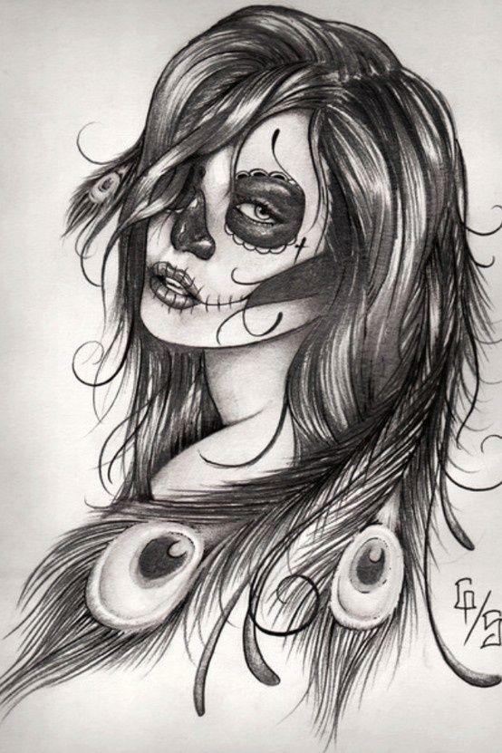 Sugar Skull Gypsy Tattoo Idea...I want something similar to this