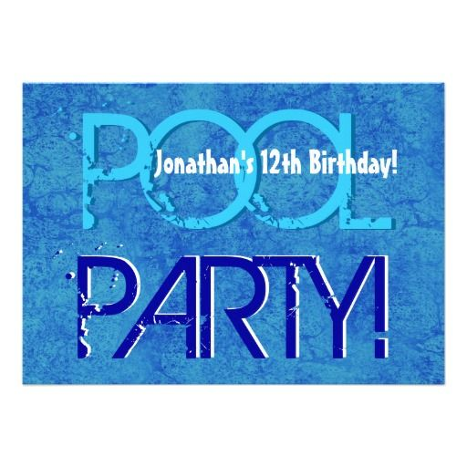 17 Best Images About 12th Birthday Party Invitations On