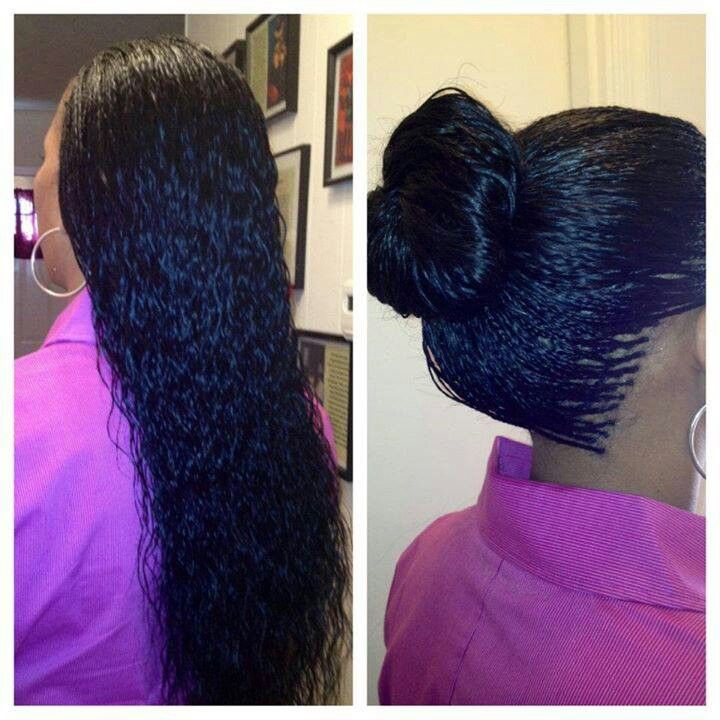 Protective style micro braids http://www.shorthaircutsforblackwomen.com/african-hair-braiding/