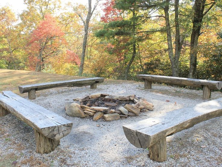 Bear Den community fire pit just down the hill from Big Bear Cabin - Spruce Pine cabin rental