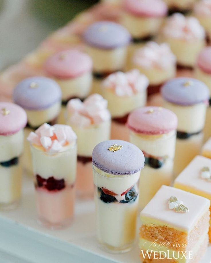 The #dessert at this #Toronto #bridalshower was eye candy in its truest form!   Photography By: Purple Tree Photography   WedLuxe Magazine   #luxury #wedding #luxurywedding #weddinginspiration  #dessert #macaroons #macarons #cake #parfait #sweets #desserinspo