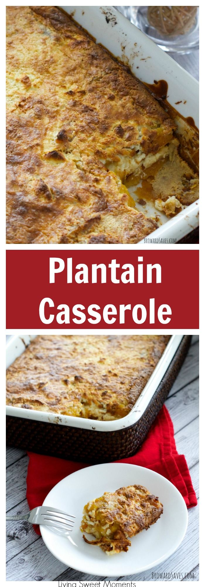 This delicious Venezuelan Plantain Casserole recipe is very easy to make and delicious. The perfect side dish to any dinner or celebration. More delicious casserole recipes at livingsweetmoments.com  via @Livingsmoments