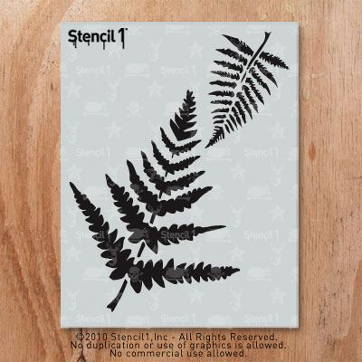 go green get graphic fern stencil by stencil1 stencil1com 1099 use