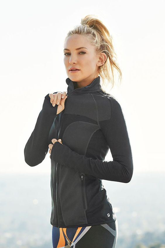 JoJo Performance Jacket by Fabletics. Kate Hudson's fitness fashion line.