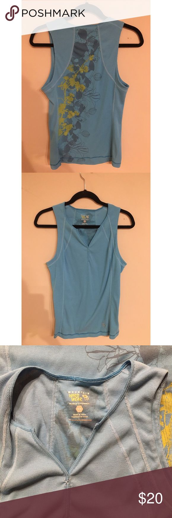 Mountain Hard Wear Gently used mountain hard ware blue tank - women's size medium Mountain Hard Wear Tops Tank Tops