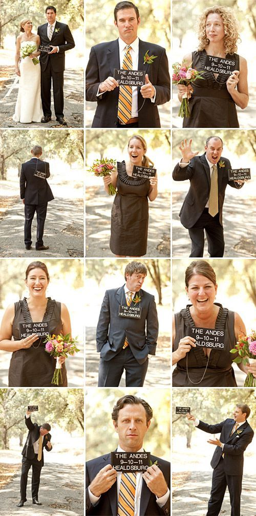 "Awesome ""mug shot"" wedding party portraits by Joan Allen Weddings with Julio Duffoo"