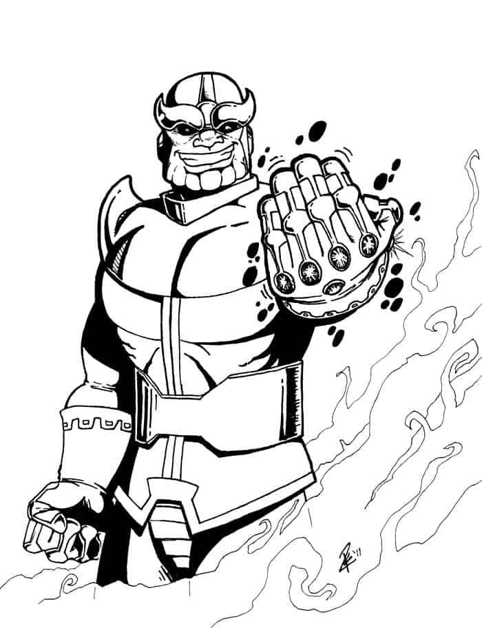 Thanos Infinity War Coloring Pages in 2020 | Avengers ...