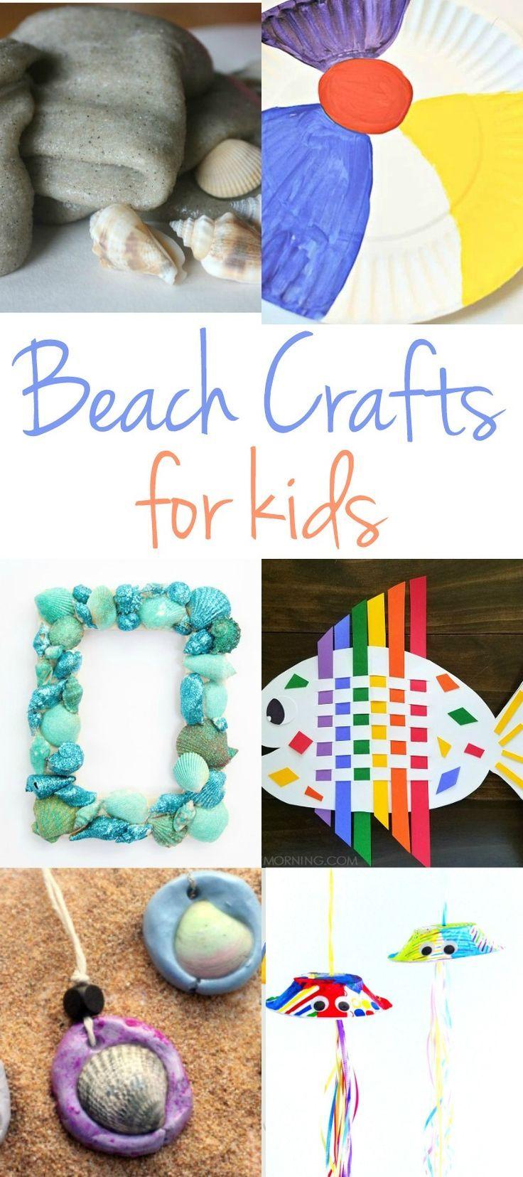 Beach Themed Crafts for Kids, Beach Crafts for Kids, Beach Slime, Shell Crafts, Beach Crafts for Preschoolers, Easy Beach Craft Ideas, Summer Fun Ideas