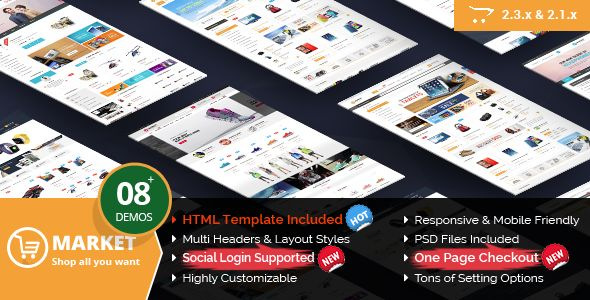 Market - Responsive Multipurpose OpenCart 2.3 and 2.1 Theme - Shopping OpenCart