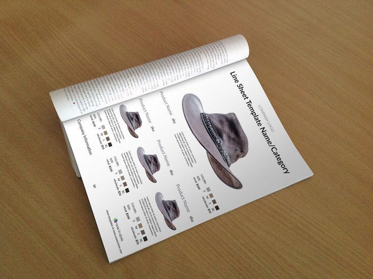Hat Line Sheet Template