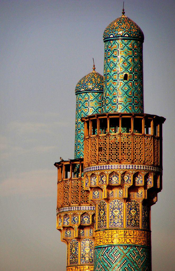 minarets esfahan (isfahan), iran | islamic architecture