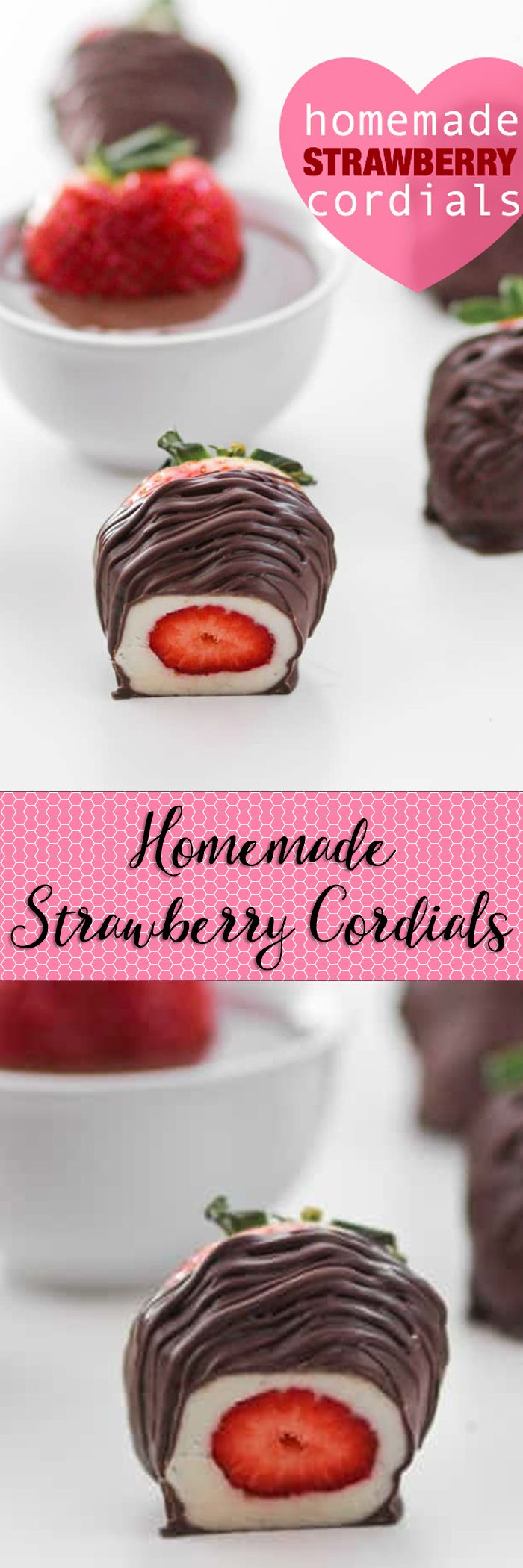 Homemade Strawberry Cordials -- the perfect way to use those gorgeous in-season strawberries!