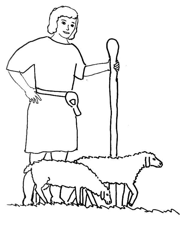 David The Shepherd Boy Drawing David The Shepherd Boy Coloring