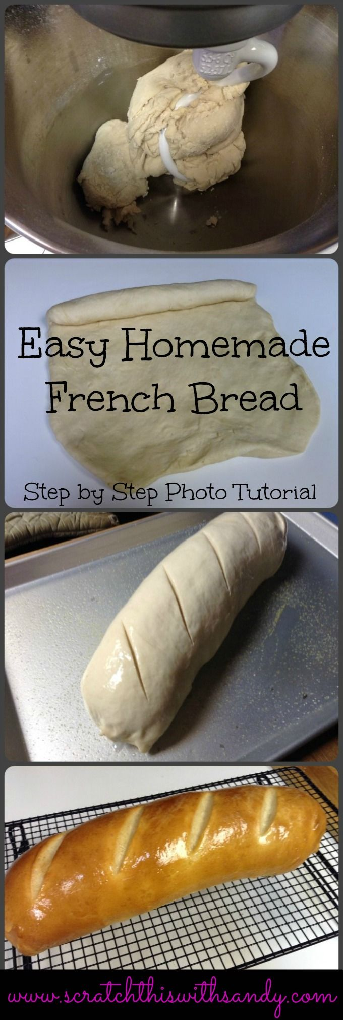 Easy French Bread Step by step photo tutorial