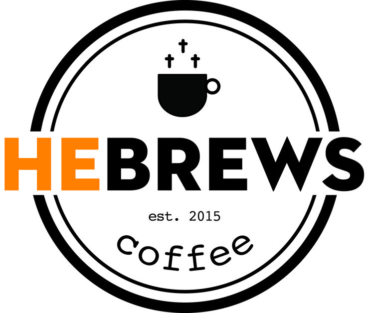 HeBrews church cafe logo. Celia Goddard Cafe logo, Cafe