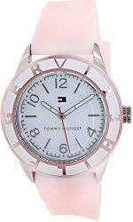 Tommy Hilfiger Sport White Dial Pink Silicone Ladies Watch 1781185