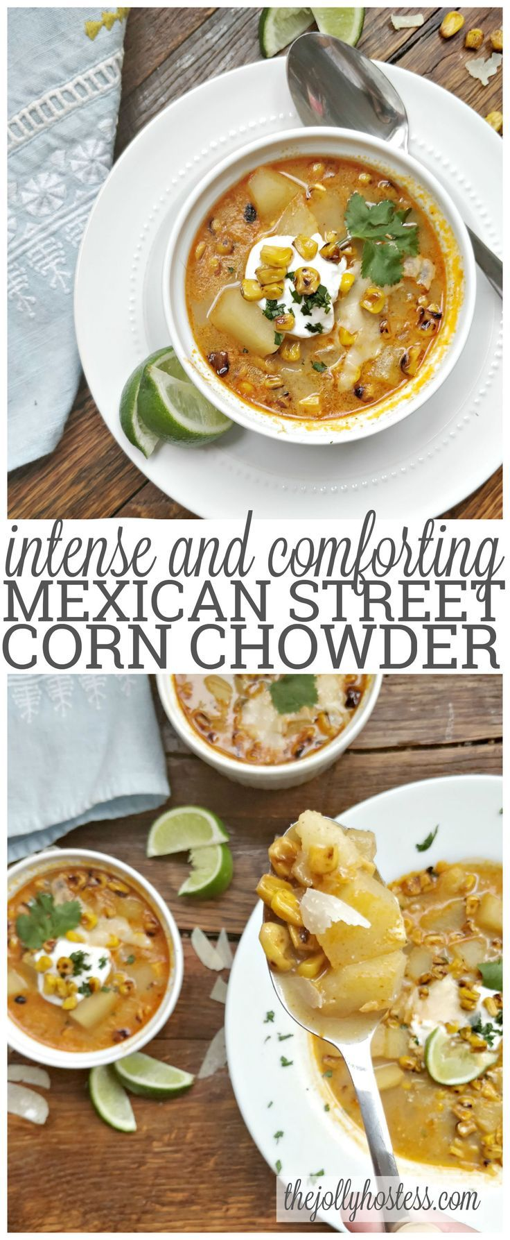 Mexican street corn chowder | recipes | recipe | appetizers | apps |  | dinner party | ideas | entertaining | low ingredient | easy | the easiest | quick | simple | make ahead | soups | soup | homemade | comfort food | creamy | starter |