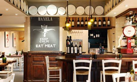 Restaurant: Maxelâ, London SW7 This place might as well be subtitled Up yours, vegetarians!