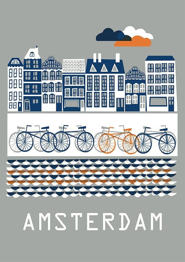 Amsterdam  Poster by Doro-Illustrations