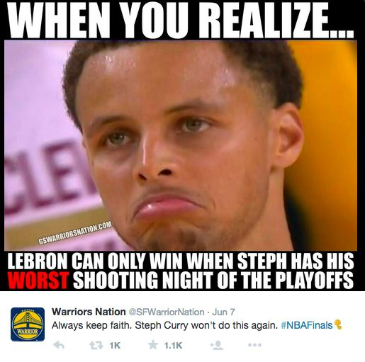 The funniest memes of the NBA Finals - Golden State Warriors