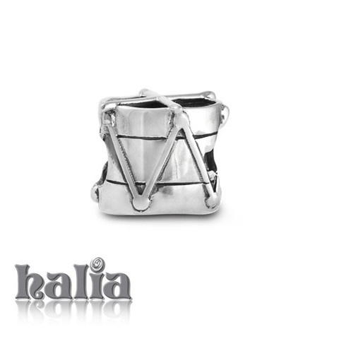 Unique Beat: Marching drum bead: designed exclusively by Halia, this bead fits other popular bead-style charm bracelets as well. Sterling silver, hypo-allergenic and nickel free.     $35.00