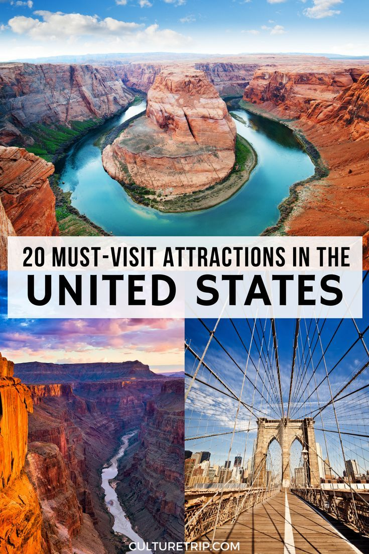 20 Must Visit Attractions In The United States Pinterest Theculturetrip Solotraveldestin Us Travel Destinations United States Travel Destinations Travel Usa