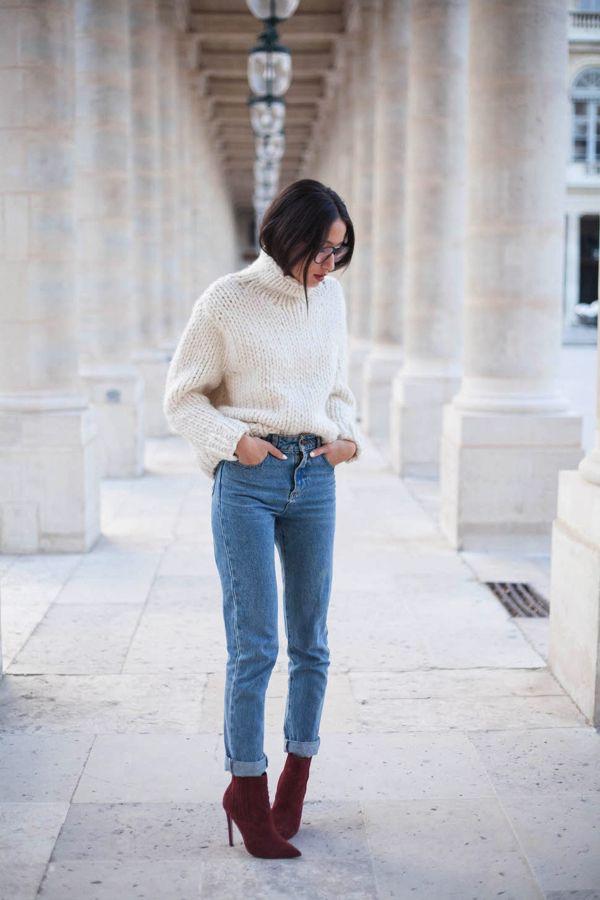 Heels + mom jeans