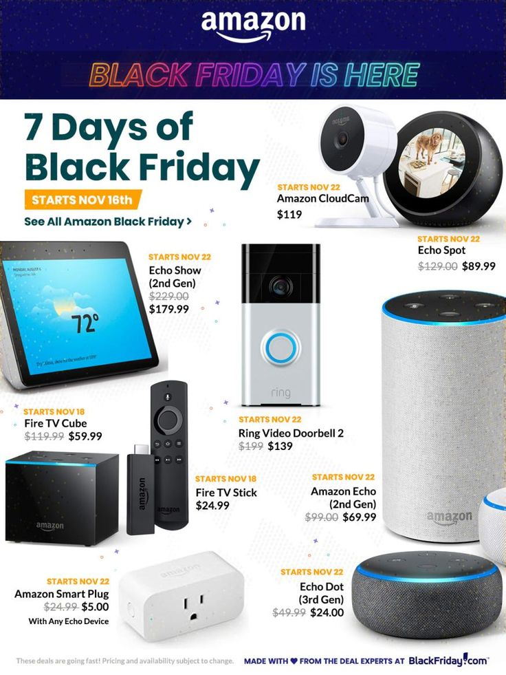 Black friday 2019 amazon gadget and electronics with