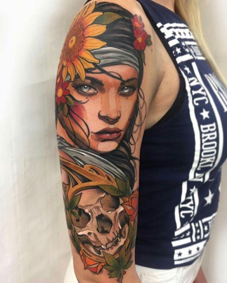Hot girl tattoo, women tattoo idea