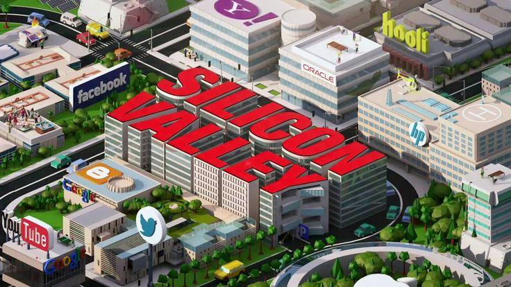 """HBO : le générique de """"Silicon Valley""""  Une réalisation colorée et inspirée par un célèbre jeu de simulation. http://www.artofteasing.fr/article/20140408-hbo-generique-silicon-valley/"""