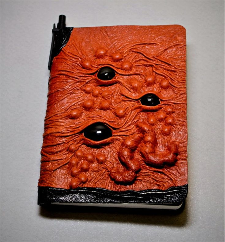 Excited to share the latest addition to my #etsy shop: Large tan brown black leather Journal, Notebook, daily organizer, blank book. Cthulhu steampunk monster. Gift for women. Gift for men. http://etsy.me/2DXZGdu