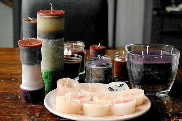 kaarsen maken van oud kaarsvet
