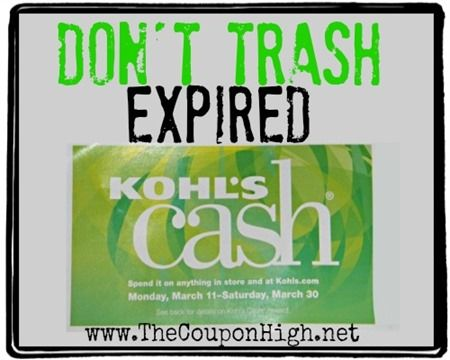 Hot Money Saving Tip | Don't Trash Expired Kohl's Cash.  Find out why.