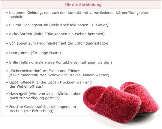 Mamiweb.de - Kliniktasche packen - für die Entbindung