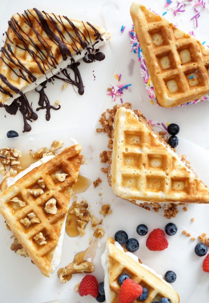 Homemade ice-cream waffle sandwiches, the perfect summer treat.