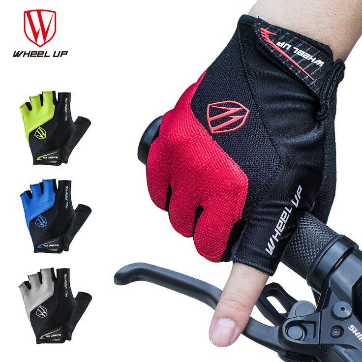 Wheel up Half Upgraded Half Finger Cycling Team Gloves Riding Glove Anti-skid Breathable Gel Pads Luva De Ciclismo Gants Velo